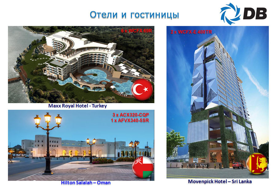 проекты Danham-Bush отели и гостиницы