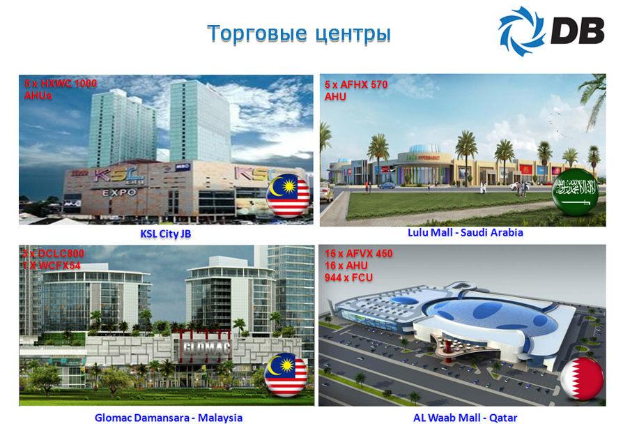 Проекты Danham-Bush торговые центры