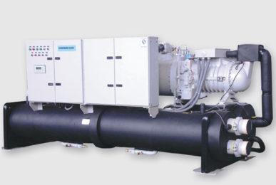 Геотермальный тепловой насос Dunham-Bush с полугерметичными винтовыми компрессорами, серия WCDSXHP
