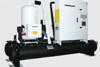 Холодильные машины Dunham-Bush с тепловым насосом водяного охлаждения конденсатора с винтовым компрессором, серия WCFXHP