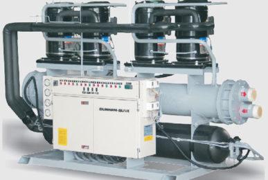 Водяной тепловой насос Dunham-Bush с водяным охлаждением конденсатора и спиральными компрессорами, серия WCS-HP
