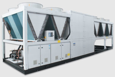Холодильная машина Dunham-Bush воздушного охлаждния с винтовым компрессором и тепловым насосом, серия ACDXHP-R