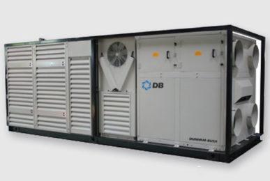 Мобильная энергоустановка Dunham-Bush с дизельным генератором и тепловым насосом, серия ACPSB-220-570 PQP- HP