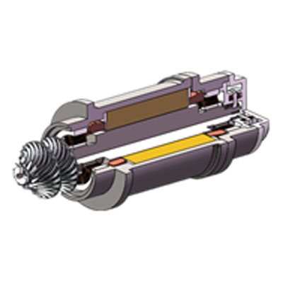Турбокомпрессор с магнитными подшипниками Dunham-Bush в разрезе