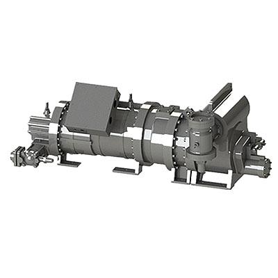 Низкотемпереатурный двухступенчатый винтовой компрессор